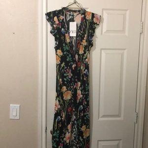 NWT Zara floral maxi dress.